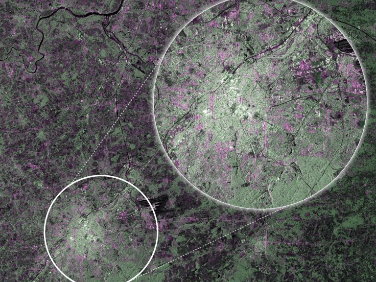 Brussels from Sentinel 1A . © ESA