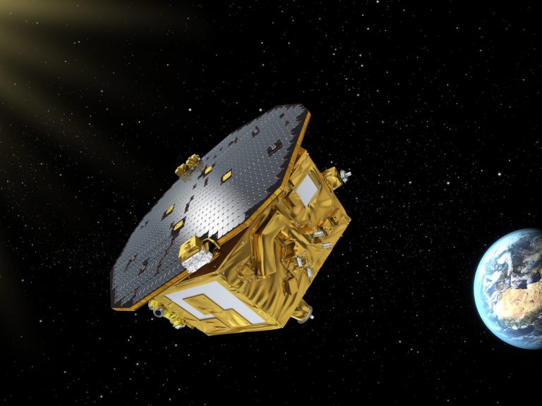 LISA Pathfinder in space: image copyright ESA-C.Carreau