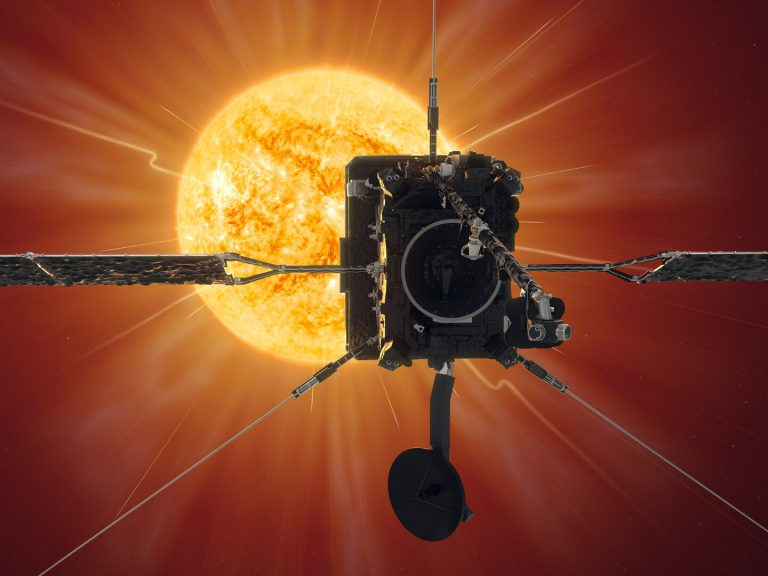 Solar Orbiter reaches first perihelion. Image copyright: ESA/Medialab