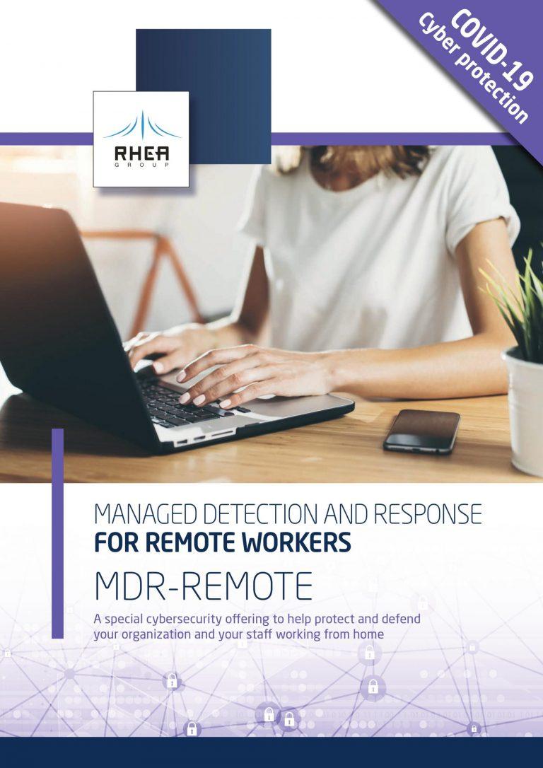 RHEA MDR Remote service brochure front cover