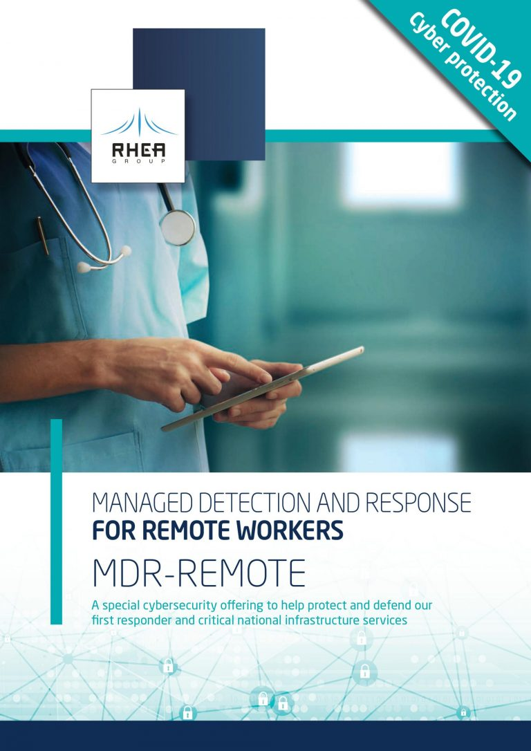 RHEA MDR-Remote for Critical Infrastructure service brochure front cover