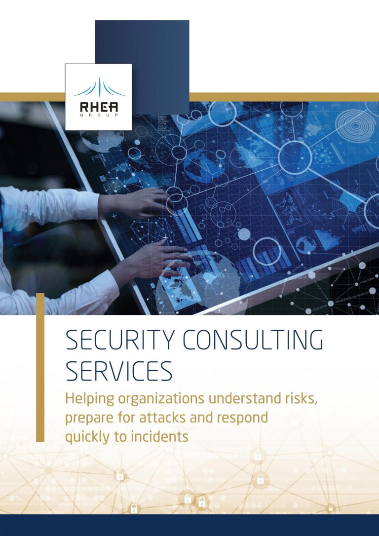 RHEA Security Consulting Services brochure front cover