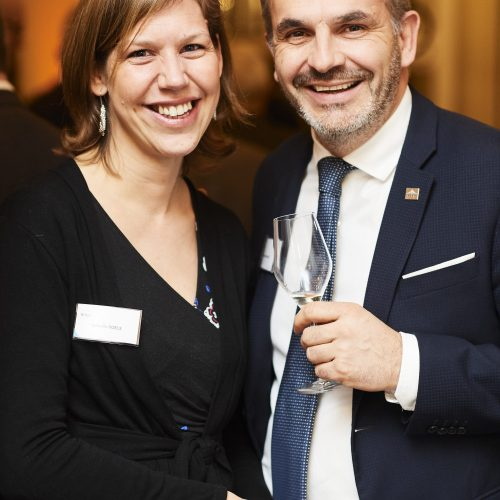 Isabelle Roels and Emmanuel Adant from RHEA Group