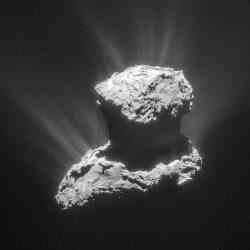 Rosetta's comet. Image copyright: ESA/Rosetta/NavCam – CC BY-SA IGO 3.0