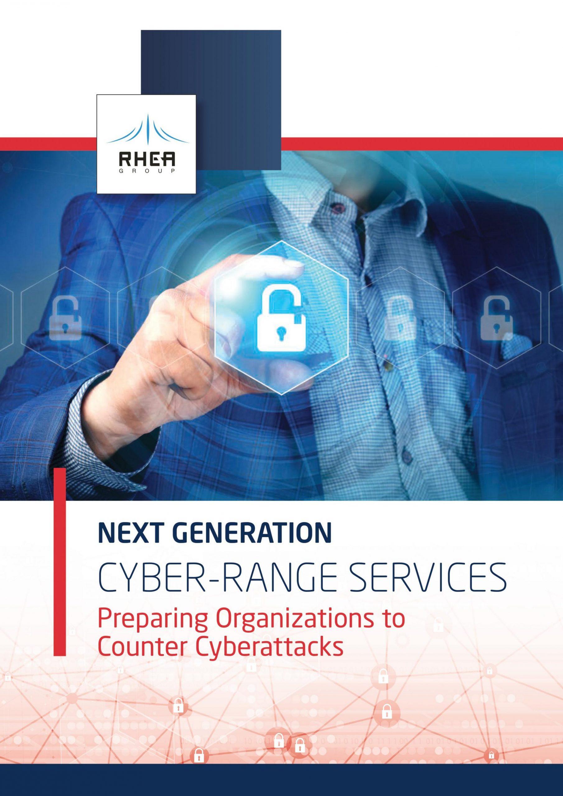 RHEA Group Cyber-Range Services brochure cover