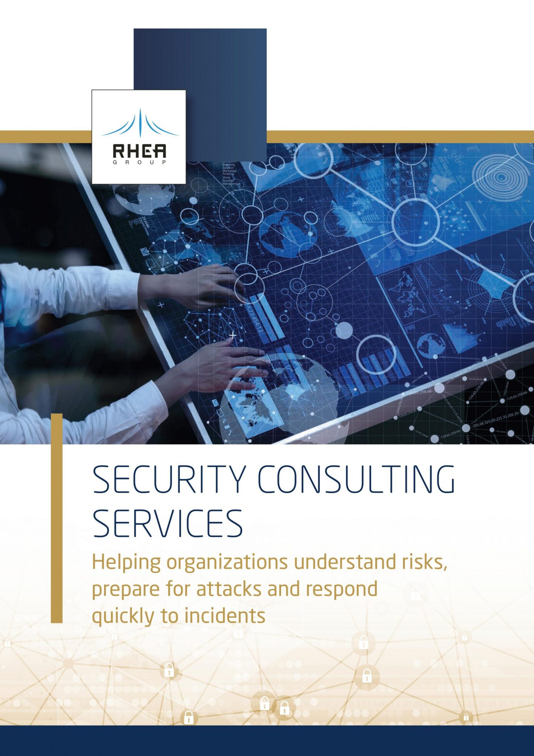 RHEA Group Security Consulting Services brochure cover