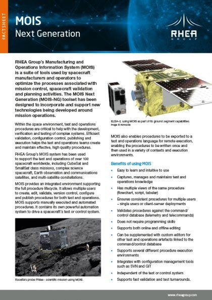 RHEA Group MOIS factsheet cover