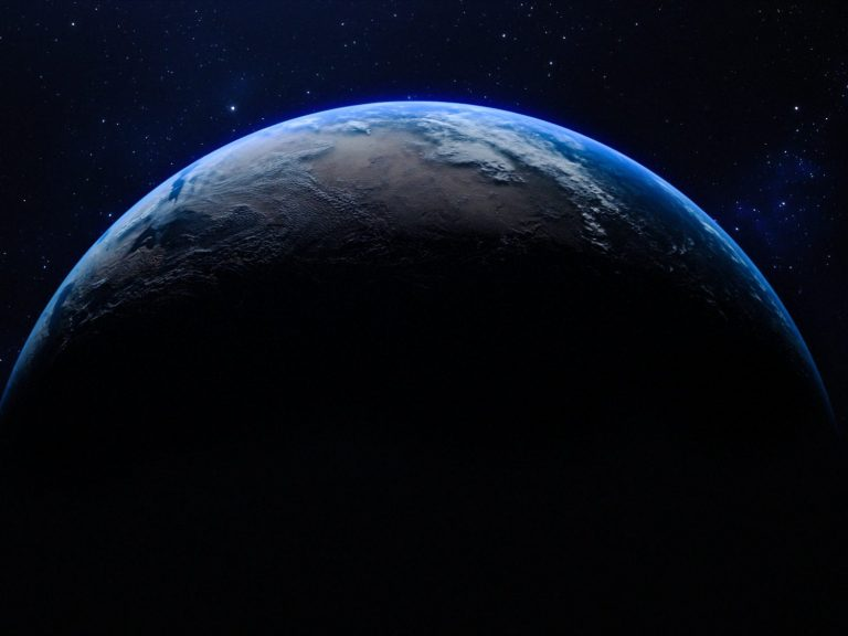 Earth distant view from space