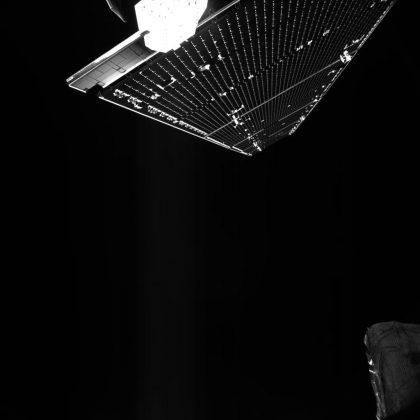 A week after launch, the solar arrays were rotated to a position off-pointed by 54 degrees with a rotation rate of about 0.5 degrees per second. Copyright: ESA/BepiColombo/MTM, CC BY-SA 3.0 IGO