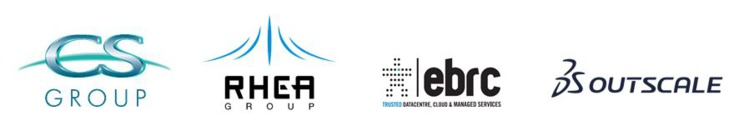 RHEA Group logo with GAIA X partners