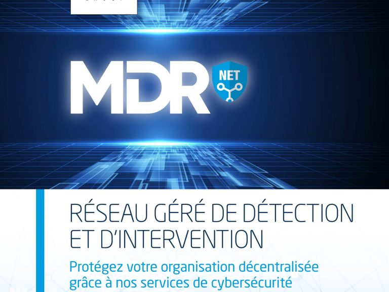RHEA Group MDR Net brochure in French - cover image
