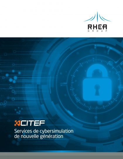 RHEA Group CITEF brochure in French - cover