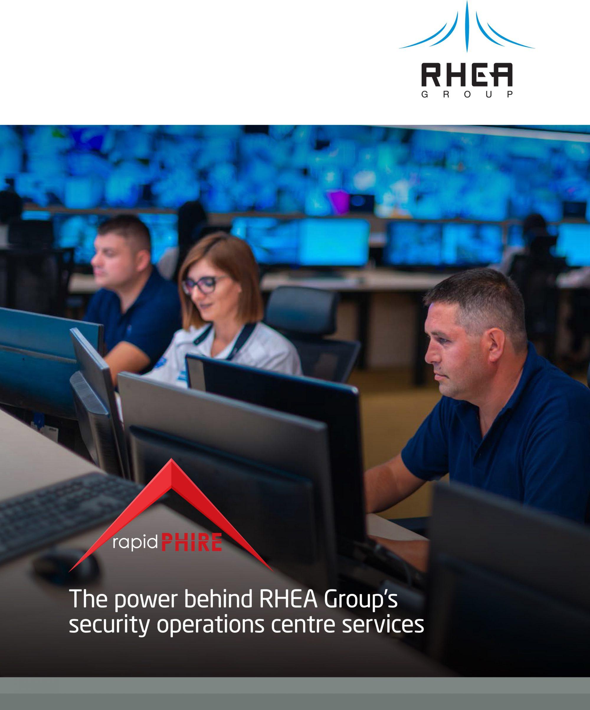 RHEA Group rapidPHIRE brochure cover