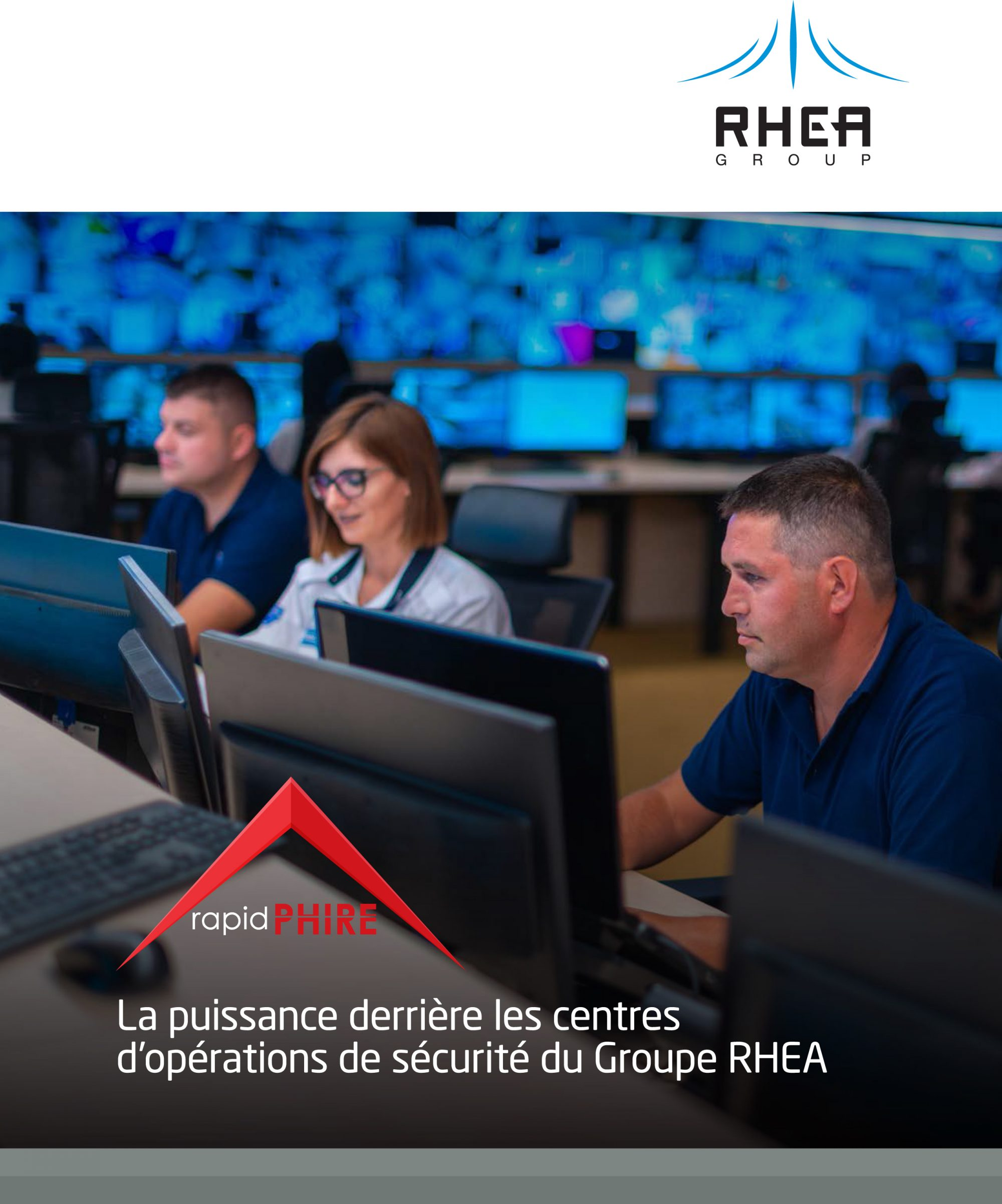 RHEA Group rapidPHIRE brochure cover - French