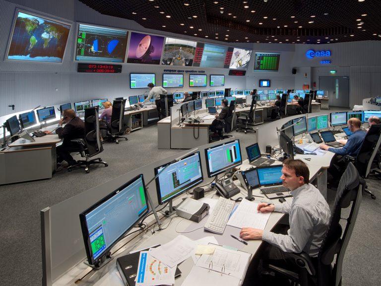 ESA Rosetta mission control room