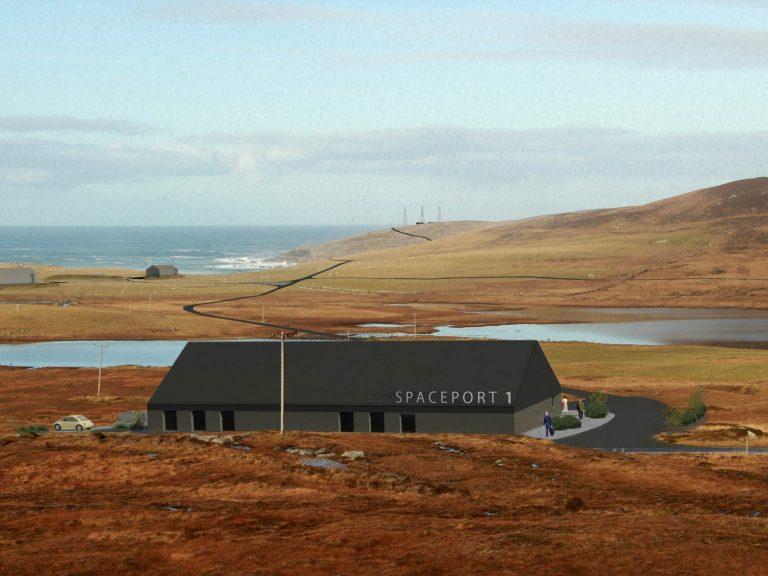 Spaceport 1 site in North Uist Scotland - artist's impression