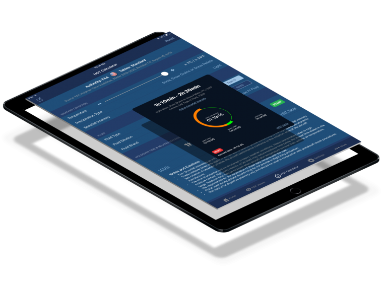 APS Aviation app on a tablet