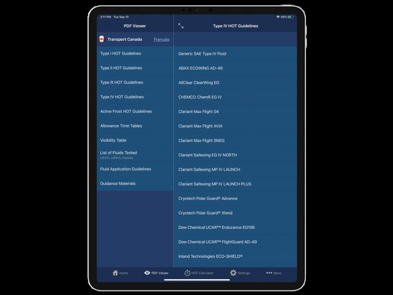 APS Aviation App showing logs screen