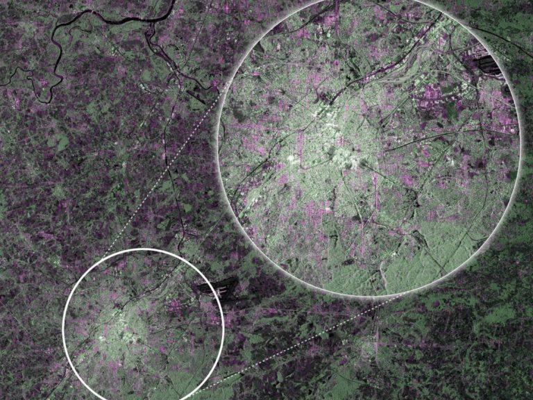 Bruxelles depuis Sentinel 1A . © ESA