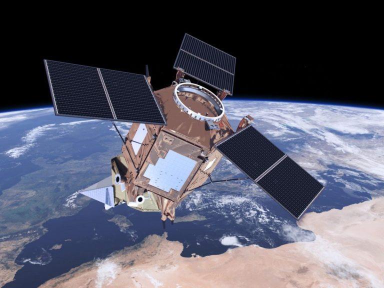 Impression d'artiste de la mission Copernicus de surveillance de la qualité de l'air CO2M proposée, avec la participation de RHEA. © ESA/ATG medialab