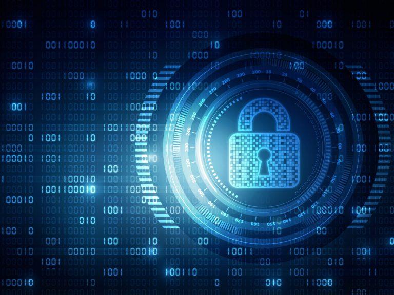 Verrouillage électronique de la cybersécurité sur un écran