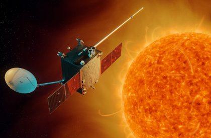 ESA's planned space weather mission. Image copyright: ESA/A. Baker, CC BY-SA 3.0 IGO