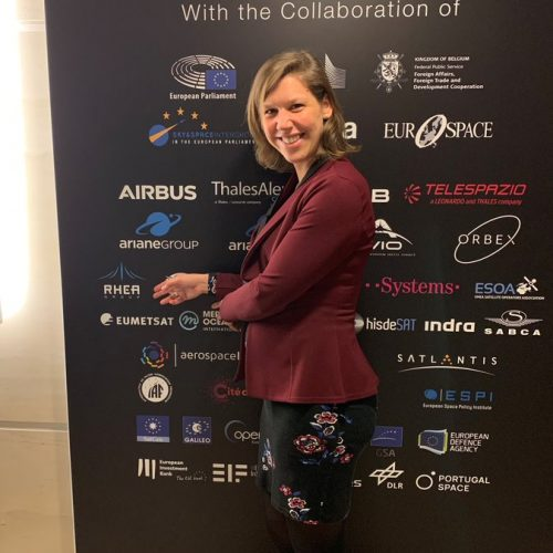 Isabelle Roels, Global Head of Marketing & Communications, at the European Space Conference 2020
