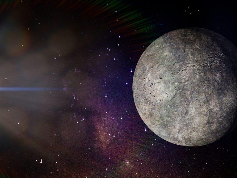 Mercure depuis l'espace