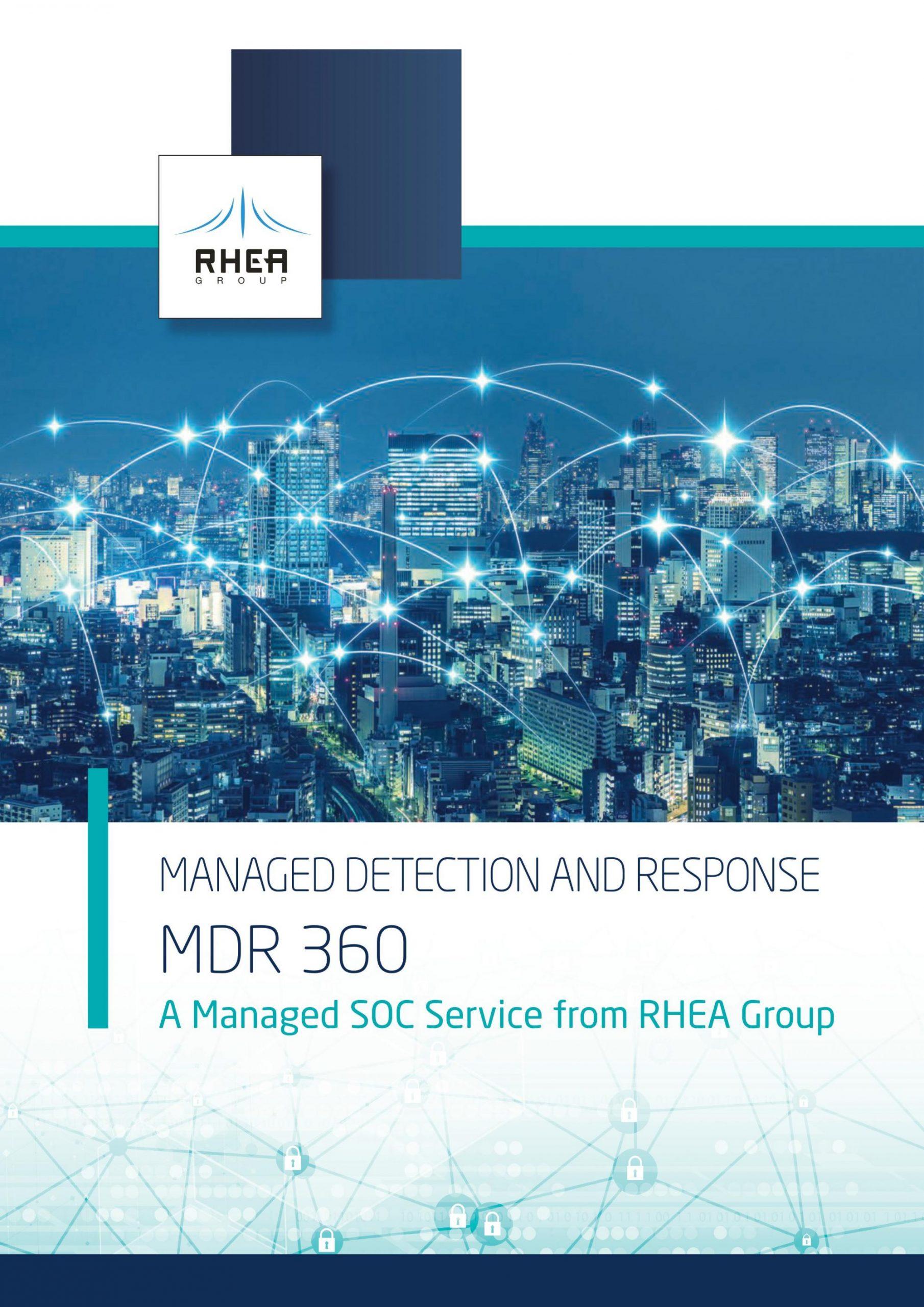 RHEA Group MDR 360 brochure cover