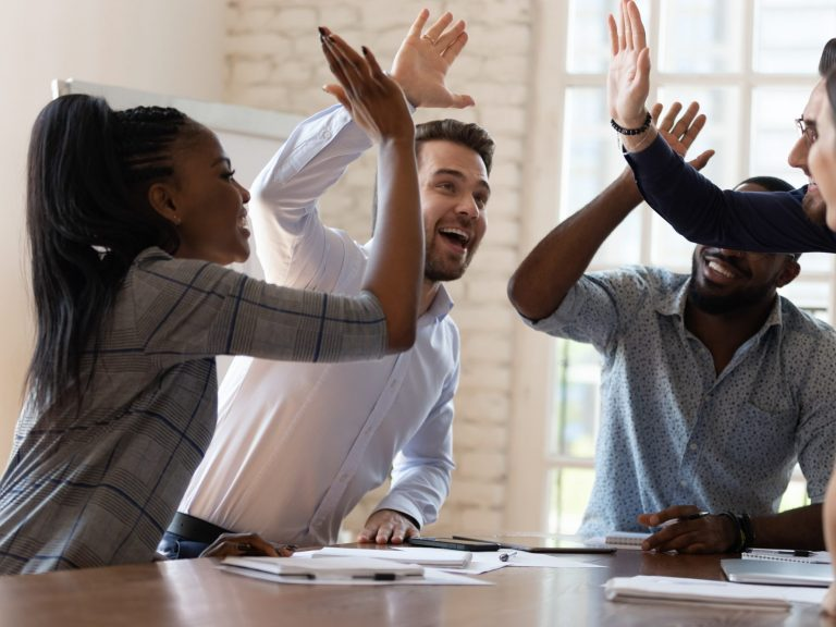 Team members feeling empowered