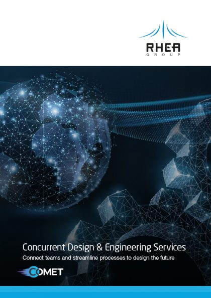 RHEA Group concurrent design brochure cover in English