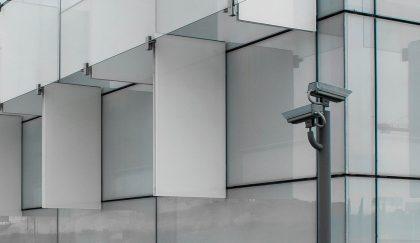 Caméra de sécurité sur un bâtiment