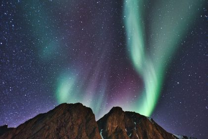 The aurora borealis is caused by space weather