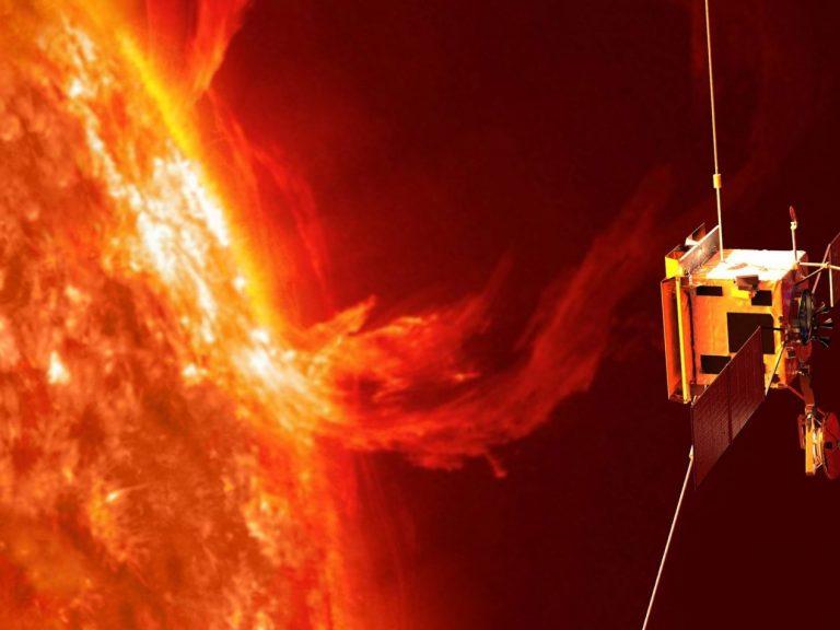 Solar Orbiter exploring the sun's realm. Image copyright: ESA/AOES