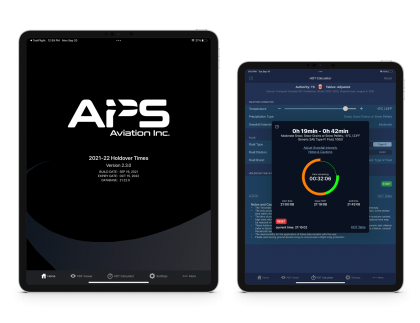 APS HOT app homepage and calculator screenshots