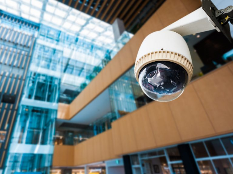 Security camera outside building